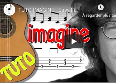 Cours de guitare pour apprendre imagine de lennon