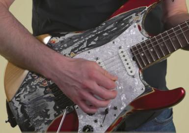 cours de guitare - le swipping