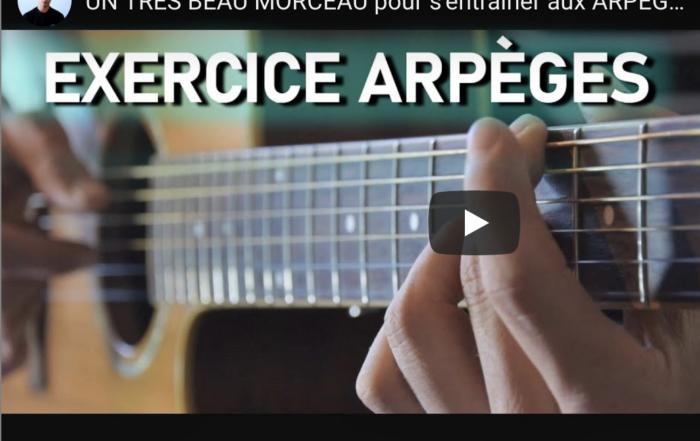 tuto pour apprendre les arpèges à la guitare